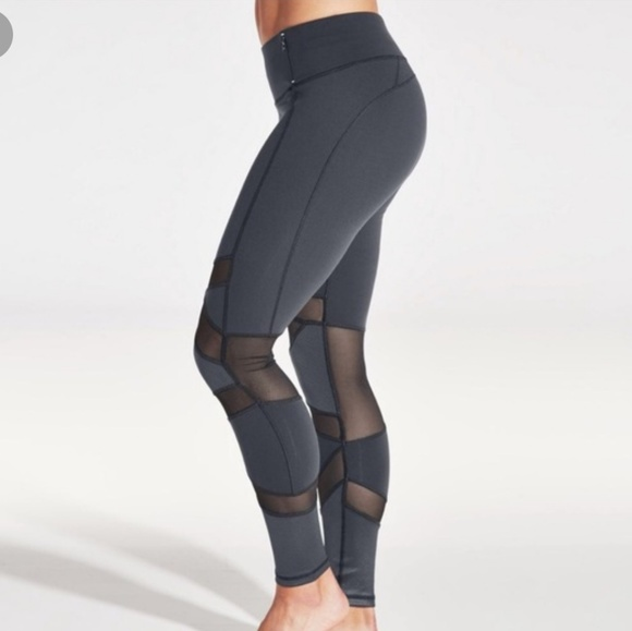 46db49c449e48 CALIA by Carrie Underwood Pants - Calia | Large Grey Mesh Workout Leggings